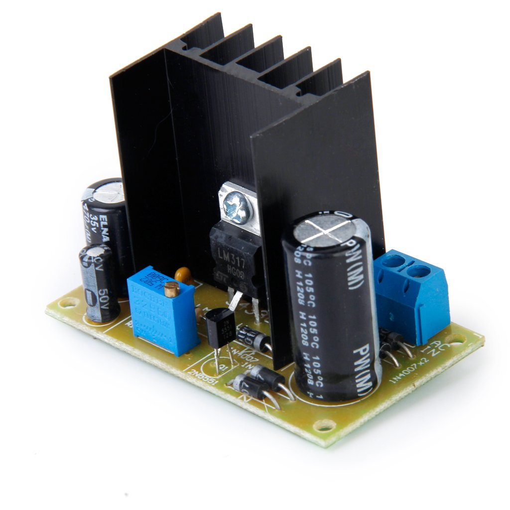 5 35v Lm317 Ac Dc Input Output Converter Power Simple 300ma To Circuit Diagram Supply Module Adjustable Linear Regulator Computers Accessories