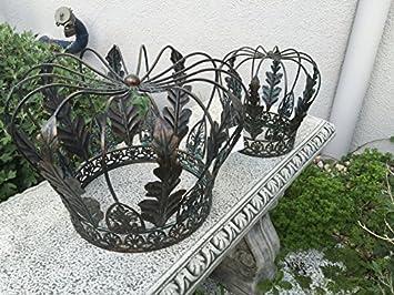 Gut Dekoration Deko Garten Krone Metallkrone Eisen Eisenkrone Set Shabby Vintage