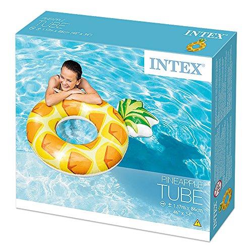 Intex 56266NP - Flotador rueda piña 117 x 86 cm: Amazon.es: Juguetes y juegos