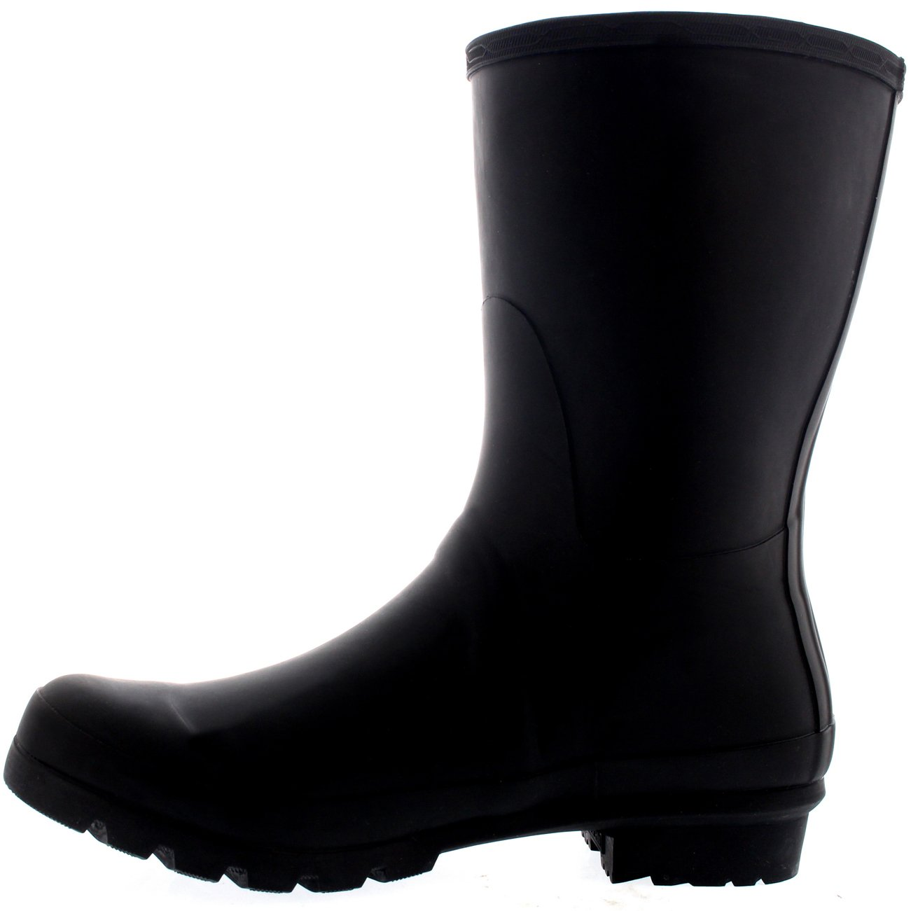 Polar Mens Adjustable Side Rubber Waterproof Rain Wellingtons Boots - Black - US13/EU46 - BL0232 by Polar Products (Image #2)