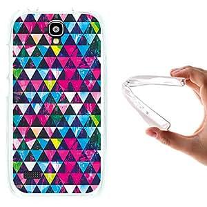 Funda Huawei Y5 - Y560, WoowCase [ Huawei Y5 - Y560 ] Funda Silicona Gel Flexible Triangulos Brillantes Efecto Grunge, Carcasa Case TPU Silicona - Transparente