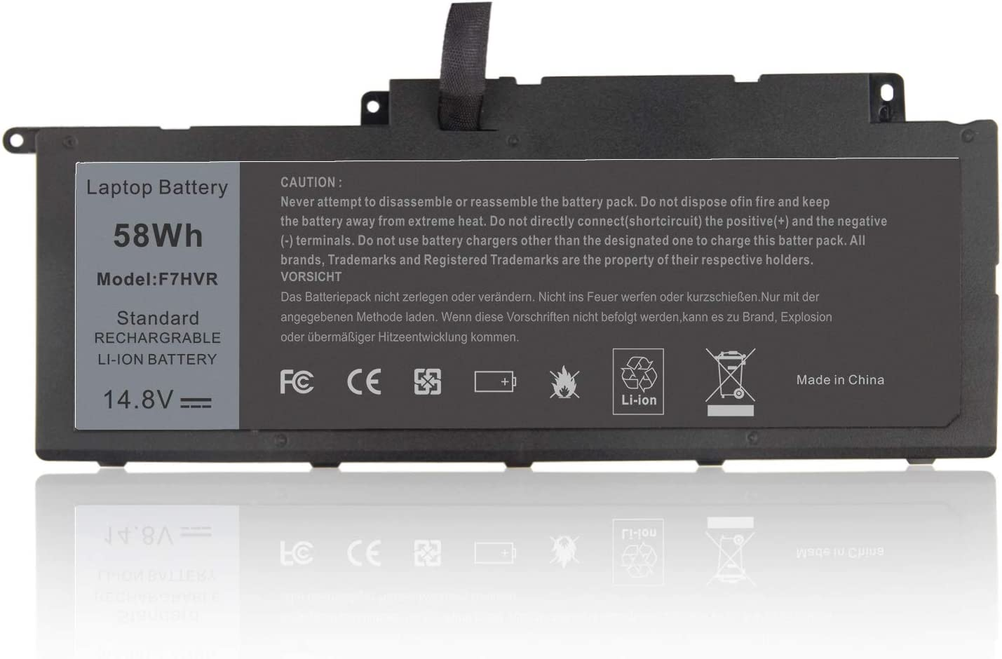 F7HVR 062VNH G4YJM T2T3J Laptop Battery for DELL Dell Inspiron 15 7537 / Insprion 17 7737 14.8V-58Wh