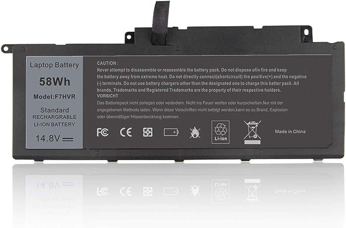 F7HVR 062VNH G4YJM T2T3J Laptop Battery for DELL Dell Inspiron 15 7537 / Insprion 17 7737 14.8V-58Wh