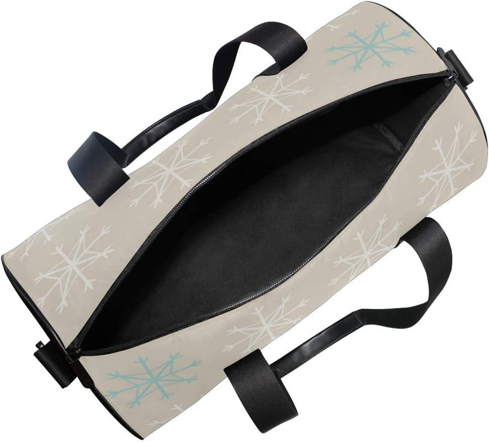 MALPLENA Beautiful Snowflake Drum gym duffel bag women Travel Bag