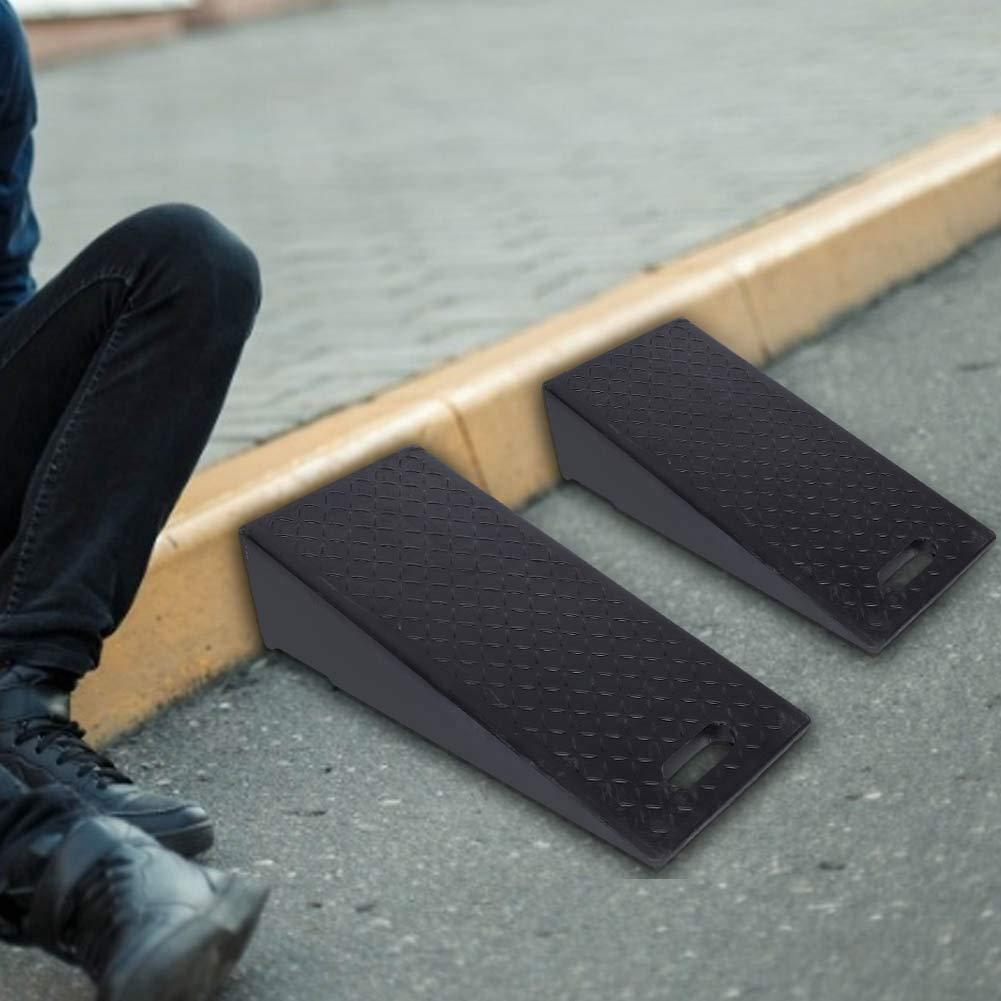 2Pcs Rampa de Goma para Bordillos Resistente 60 x 30 x 19cm Rampas de la Acera para Autom/óviles Antideslizante