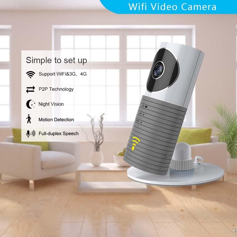 plug /& play. con monitor para vigilar al beb/é Mini c/ámara IP wifi Cadrim 720P inal/ámbrica de vigilancia Wi-Fi c/ámara de seguridad con visi/ón nocturna giratoria