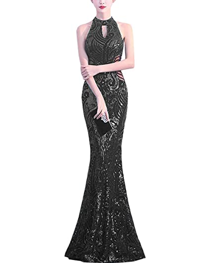 Formal Sequins Mermaid Evening Dress Wedding Bridesmaid Party Cocktail Prom Gown