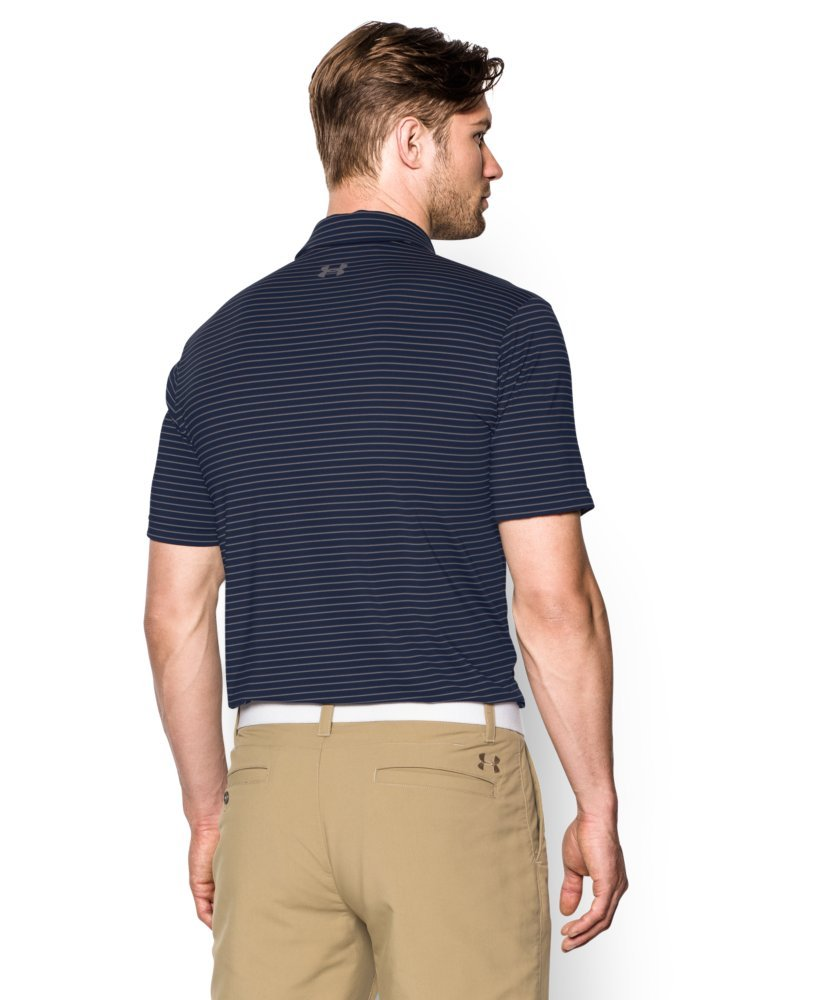 Under Armour Men's Playoff Polo, Academy (410)/Steel, Small by Under Armour (Image #2)