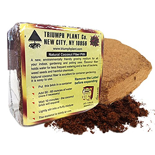 Triumph Plant Coco Coir Bricks - A Natural Additive to Potting Soil for Potted Plants & Gardens- Coconut Coir is a Sustainable Alternative to Peat Moss -8 lbs (Company Coconut)