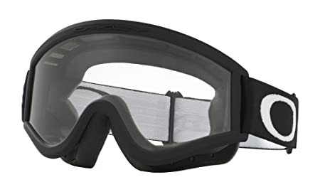 Oakley L-Frame MX Goggles Matte Black Frame Clear Lens Glasses, One Size