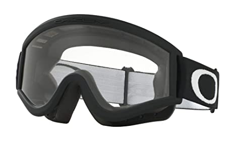 e74fbf31fad Amazon.com   Oakley L-Frame MX Goggles (Matte Black Frame Clear Lens ...