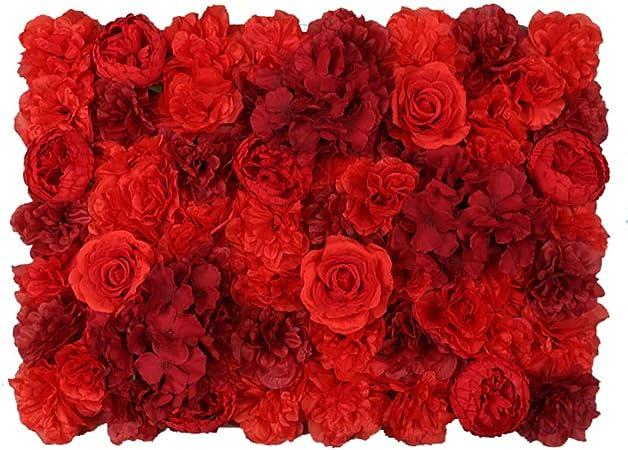 YNFNGXU Decoración romántica del Fondo del jardín de Bodas, Panel de Pared de Flores Artificiales, Fondo de Bloqueo de Pantalla de privacidad de 60x40 cm (Color : B): Amazon.es: Hogar