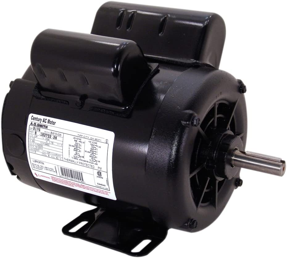 A.O. Smith B381 2 SPL, 3600 RPM, 115/230 Volts, 1 Service Factor, CW-OSE Rotation, 5/8-Inch x 1-7/8-Inch Keyed Shaft Compressor Motor