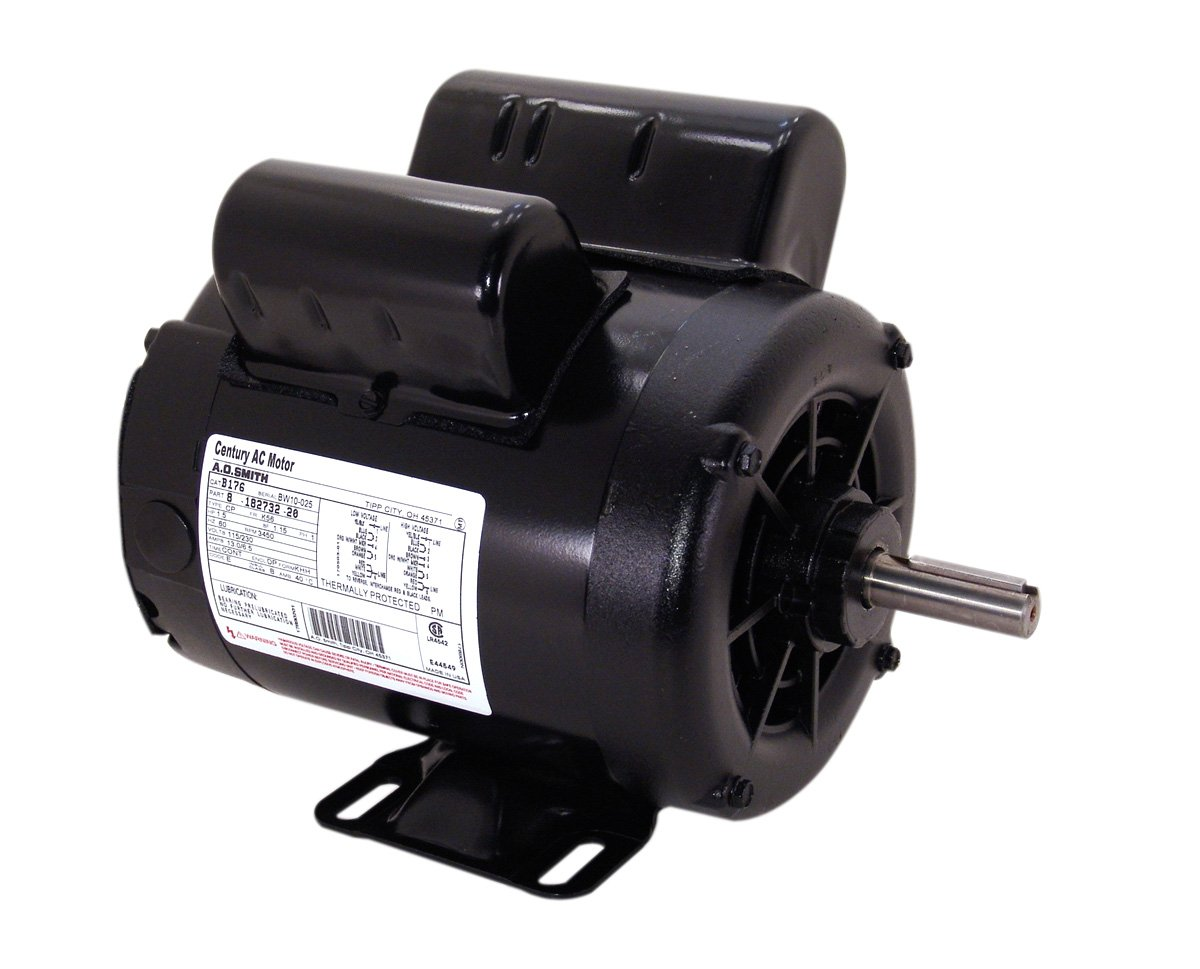 A.O. Smith B383 3 SPL, 3600 RPM, 115/230 Volts, 1 Service Factor, CW-OSE  Rotation, 5/8-Inch by 1-7/8-Inch Keyed Shaft Compressor Motor - Electric  Fan Motors ...