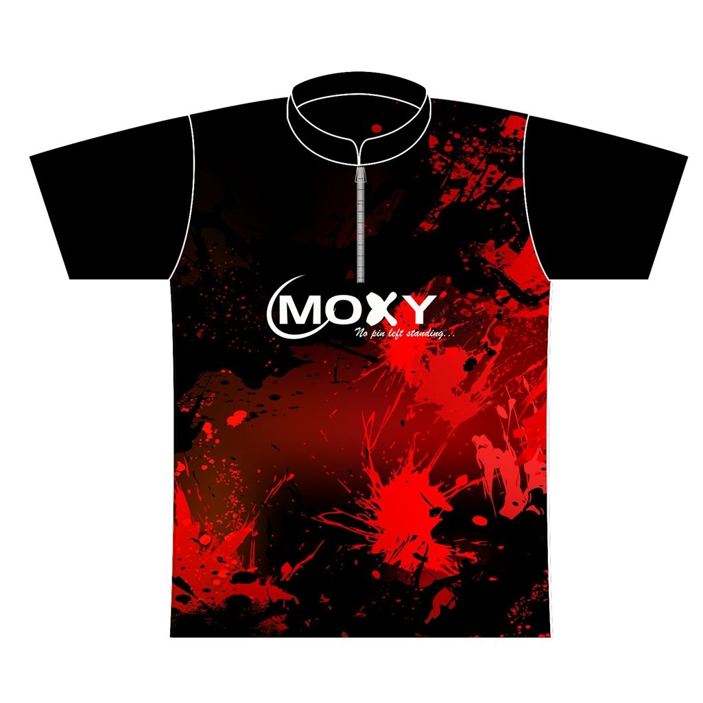 Moxy Dye-Sublimated Jersey- Violent (Ladies X-Small, Black/Red)