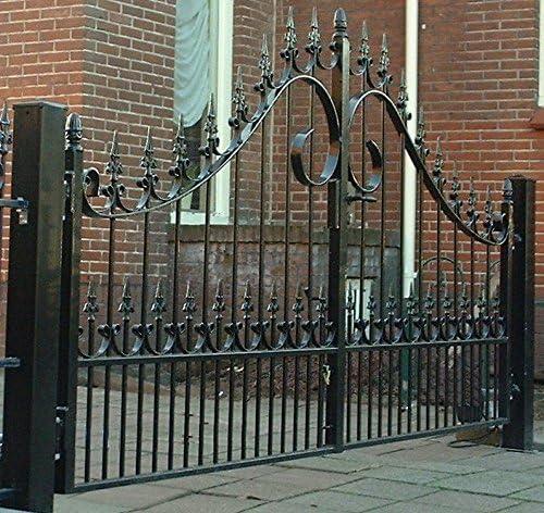 Doble alas – Puerta Oxford 300 cm, forjado, prohibida – Puerta, Jardín, Jardín Valla: Amazon.es: Jardín