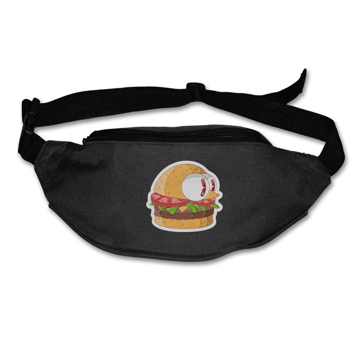 Cute Burger Sport Waist Bag Fanny Pack Adjustable For Hike
