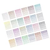 DECORA 3960pcs Multicolor Rhinestone Stickers in 24 Colors & 4 Sizes, 24 Sheets Self-Adhesive Gemstone Embellishment Stickers for Nail Art Makeup Scrapbooking and Crafts 3mm 4mm 5mm 6mm