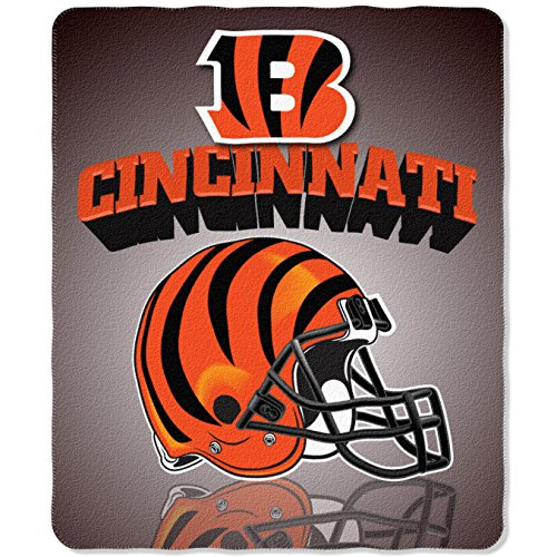 The Northwest Company NFL Cincinnati Bengals Gridiron Fleece Throw, 50-inches x 60-inches