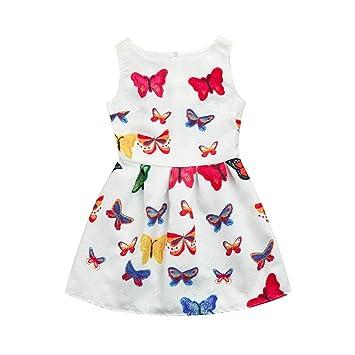 ce7452512 Subfamily Children's Clothing Vestido para niñas con diseño de flores y flores  para niñas, sin