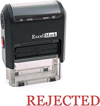 Red Ink Self-Inking Rejected Stamp MaxStamp