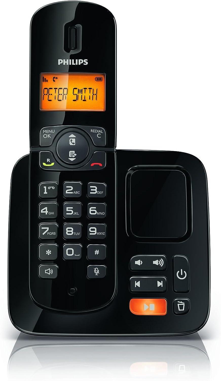 Philips CD1861B/ES Teléfono inalámbrico con contestador automático BeNear (negro): Amazon.es: Electrónica