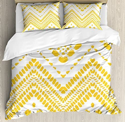 Mustard Yellow King Size Duvet Cover And Pillowcases Set Quilt Bedding Bed Set