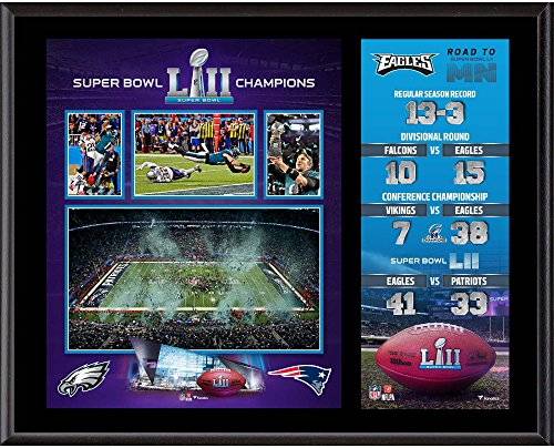 Philadelphia Eagles 12'' x 15'' Super Bowl LII Champions Sublimated Plaque - Fanatics Authentic Certified