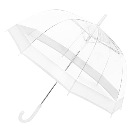 New Clear See-through Rain Umbrella Bubble Dome Shaped No Trim