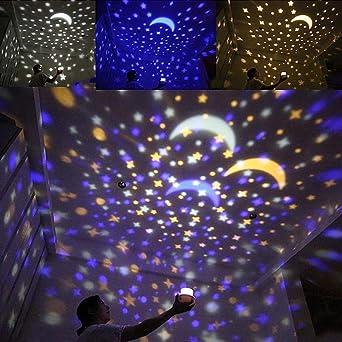 Nuevo Universo Lámpara de Proyección de Luz Nocturna Carga USB ...
