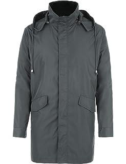 152e88e62 bosbary Raincoats Men's Waterproof Lightweight Long Rain Jacket ...
