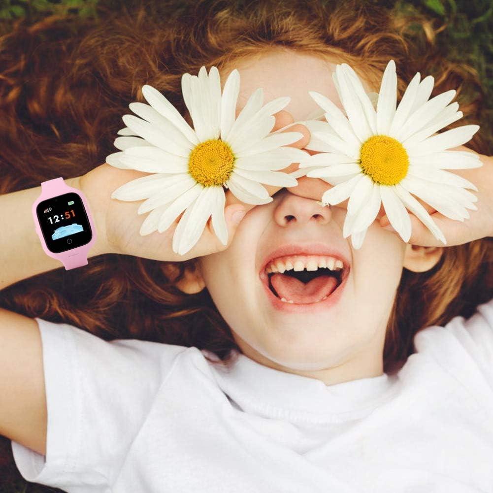 Ichiias Montre pour Enfants 1,3 Pouces HD IPS Écran Couleur véritable SOS Appel d'urgence IP67 Montre étanche(Rose) Rose