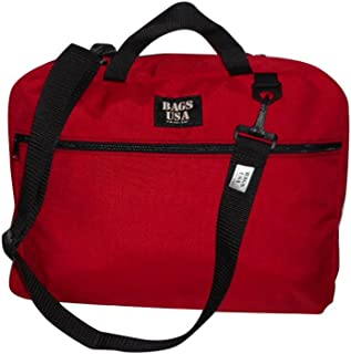 product image for Briefcase with Full Outside Pocket and Two Inside Pocket,Soft Briefcase, Made in U.s.a. (Red)