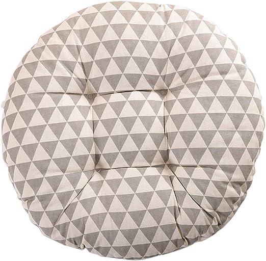 Nowbetter Cojín de Redondo Amortiguador Algodón Asiento Tatami para Silla de Oficina, Silla de Comedor, Muebles de jardín, 40 x 8 cm (Gris): Amazon.es: Hogar