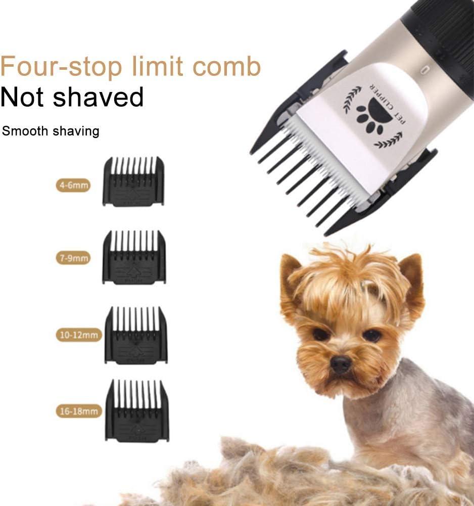 Cortapelos El/éctricos Silenciosos Recargables de Bajo Ruido para Perros Gatos Mascotas con Bater/ía BESTEU Cortapelos para Perros