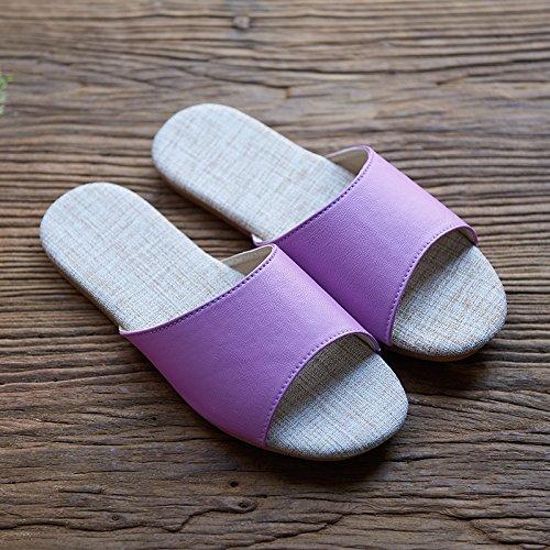 yellow 40 41 antiskid Linen indoor slippers qX4CUw