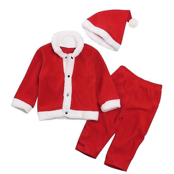 Mibuy Ropa Bebe Navidad, Disfraz Navidad Bebe 3pcs Conjunto De ...