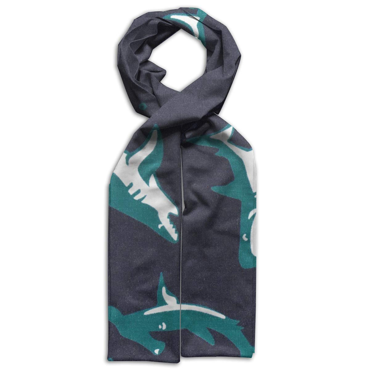 Sea Shark Pattern Childrens Children Scarf Premium Soft Family Match Scarf