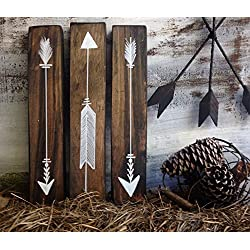 Rustic wood arrow sign décor, woodland nursery arrows, decorative wood arrow, tribal wood arrow
