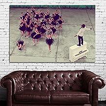 SDK mural #49 Poster Kanye West Rap Hip Hop 32x48 inch (60x80 cm) Canvas & Stretcher Bars Frame
