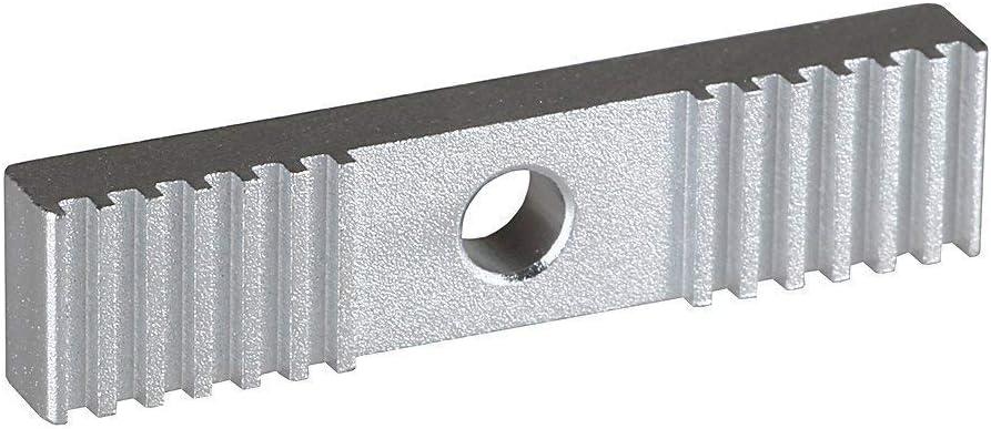 ICQUANZX 5 Piezas 2GT Correa Dentada Aluminio Engranaje Abrazadera Montaje Bloque 9X40 mm para Piezas de Impresora 3D