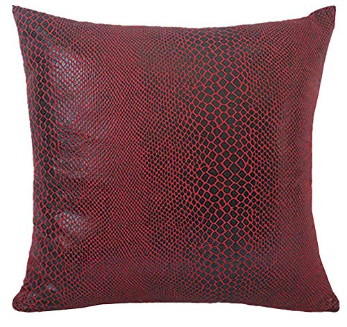 ChezMax Square Snake Skin Printed Cushion Cover Warp Suede Throw Pillow Case Sham Slipover Pillowslip Pillowcase for Drawing Room Sofa Couch Chair Back Seat