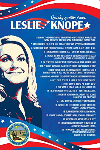 Leslie Knope's Quirky quotes poster Inspired by Parks and Recreation (24 x16 inches)