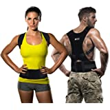 Copper Compression Posture Corrector - Guaranteed Highest Copper Content Adjustable Posture Support. Back Brace Men and Women Supports Correct Posture Upper and Lower Back Lumbar. (Large) Waist 30-36