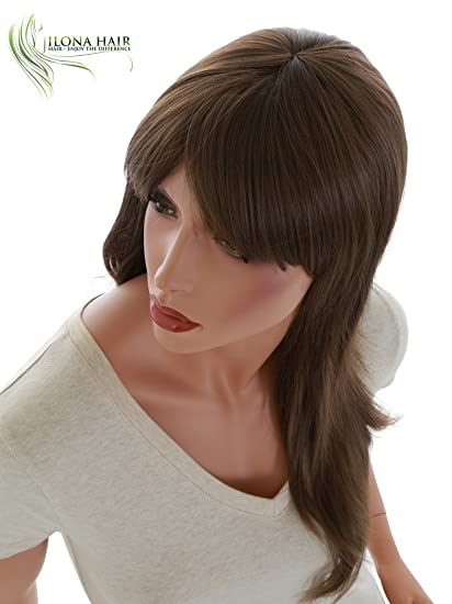 Amazon.com : Long Wig With Bang Straight Hair For White and Black Woman Stella 2 Heat Friendly 16 colors options in different shades of Black Brown Blonde ...