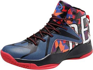 ZARLLE Hombres Alta Ayuda Zapatillas de Baloncesto,Absorción de Impactos y Resistencia al Desgaste Zapatos Deportivos,Estudiante Ligero Zapatillas,Zapatos Running Aire Libre: Amazon.es: Ropa y accesorios