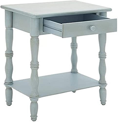 Powell Hudson End Table, Dark Wood with GreyWash Finish
