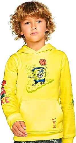 Cerdito panel Ir a caminar  Amazon.com: Nike Kyrie X Spongebob - Sudadera con capucha para niño  (edición limitada, talla L, 12-14 años), color amarillo: Clothing