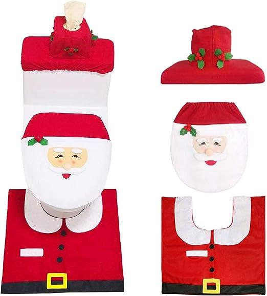 Christmas Ornament Toilet Paper Cover Santa Hat Christmas Toilet Paper Cover
