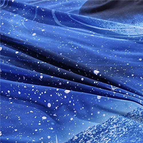 YOUSA Blue Planet Bedding Polyester Duvet Cover Sets